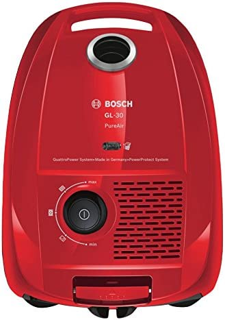 Bosch BGL3A331 Aspirador Con Bolsa, 600 W, 4 litros, 75 Decibelios, Rojo: Amazon.es: Hogar