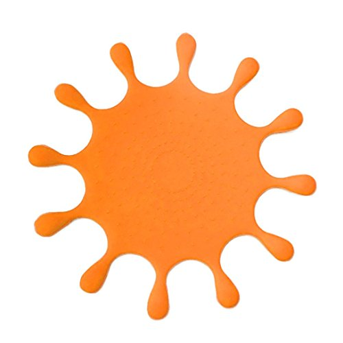 LiPing Sun Shape Series Silica gel Coasters oasters Absorbent Eco-Friendly Protects Furniture from Water Stains & Damages Thermal Insulation (orange) (Holder Brass Toothbrush Series)