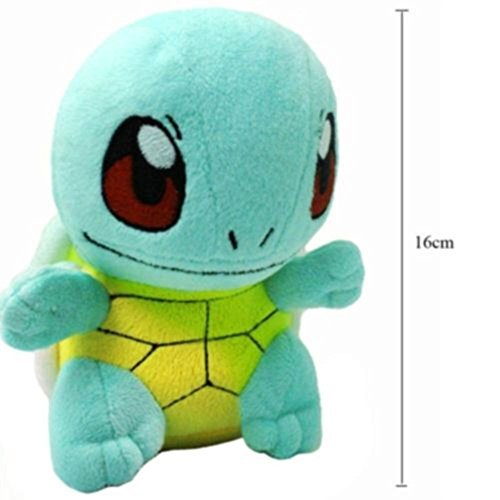 "New 6.5"" SQUIRTLE Lovely Stuffed Soft Plush Toys Doll figure Xmas Gift Pokemon MTS"