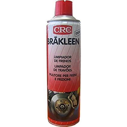 CRC - Spray Limpiador/Desengrasante Completamente Evaporable Libre De Disolventes Clorados Y Secado Rápido Brakleen