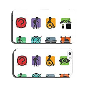 Vector colorful icon set of access signs cell phone cover case Samsung S5