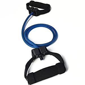 Quality Resistance Bands - Single And Adjustable Handles (Blue (Light))