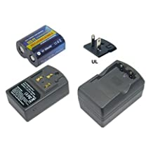 Battery Charger for PANASONIC 223, CR-P2, CR-P2S, CRP2P, DL223A, EL223AP, K223LA. [This Product includes 1 charger and 1 pcs of RCRP2 rechargeable battery]