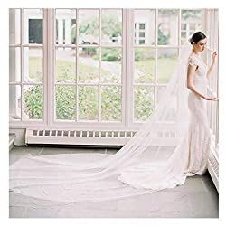 Fdesigner Bride Cathedral Veil Wedding Chapel Veils Bridal Headpieces Statement Veils Long Soft Veil with Comb 2T