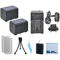 2 NP-FV70 Replacement Batteries + Car/Home Charger For Sony Camcorder + eCostConnection Complete Starter Kit