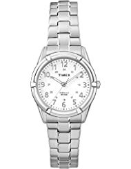 Timex TW2P88900GP Women's Classic White Dial and Stainless Steel Expansion Band Watch