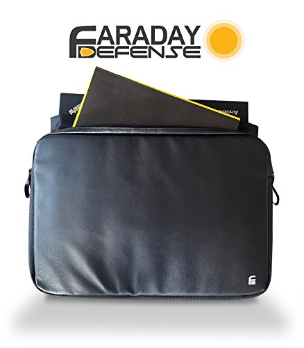 Laptop Faraday Bag 13.5'' RFID Privacy Protection Anti-tracking Anti-spying EMP GPS Rfid Signal Blocking Bag … by Faraday Defense