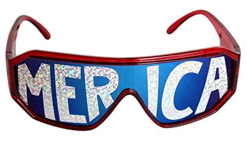 Rasslor Merica Shield - Lenses Holographic Sunglasses