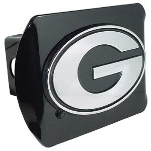 Georgia Bulldogs Trailer Hitch Cover (Elektroplate C210GB1 University of Georgia Bulldogs