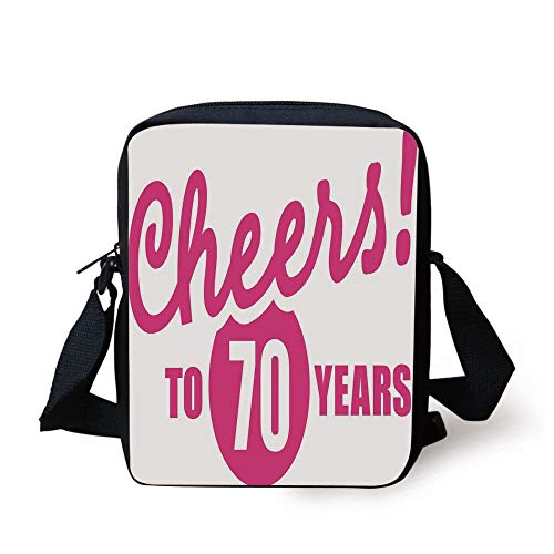 Crossbody To Pink Party Decorations Kids Written hot Print Purse Image 70th And Hand Messenger cheers Years Black Birthday Bag 70 t8pc8aPqSw