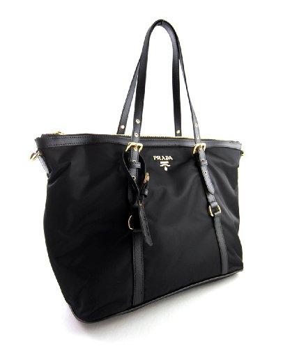03ced24a4173 Prada Tessuto Saffian Nylon and Leather Shopping Tote Bag BR4253 ...