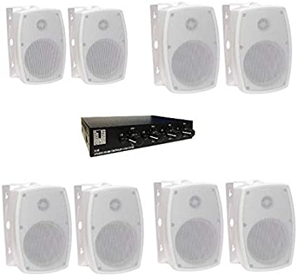 System One - Pack de 4 Parejas de Altavoces para Interior y ...