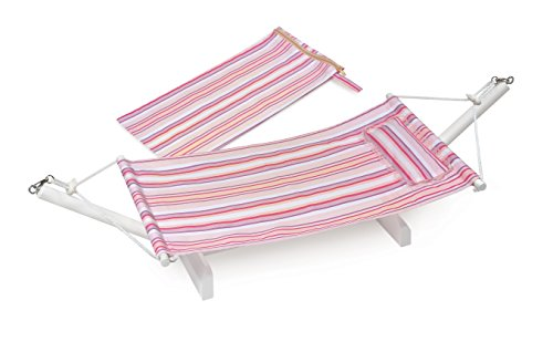 Badger Basket Portable Summer Stripes Doll Hammock With