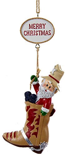 Western Santa Ornament (Western Santa Boot Ornament [1A1540A])