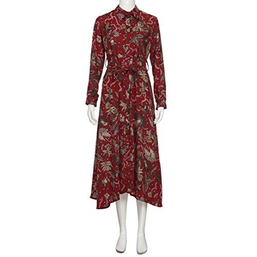 TPulling Damen Blumen Kleider Frau Mode Einfarbig Bedrucktes ...