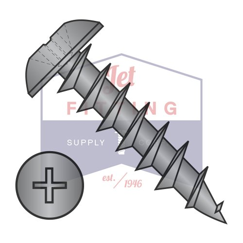 #6 x 5//8 Deep Thread Wood Screws//Phillips//Truss Head//Steel//Black Oxide//Full Thread Quantity: 9,000 pcs
