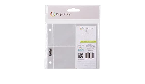 We R Memory Keepers Instagram Albums Made Easy 4x4 Page Protectors 2x2 Pocket 50134-3 by We R Memory Keepers