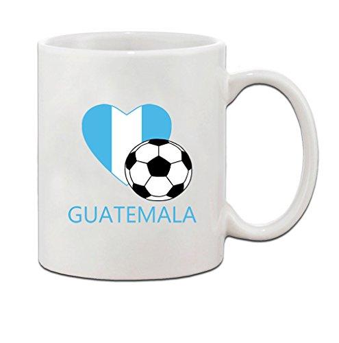 Guatemala Soccer Flag Country Ceramic Coffee Tea Mug Cup - Holiday Christmas Hanukkah Gift for Men & Women (Soccer Balls Guatemala)