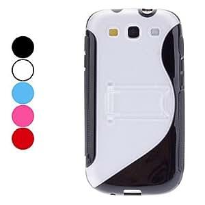 ZCL- S Forma estuche rígido con soporte para Samsung Galaxy S3 I9300 (colores surtidos) , Gris