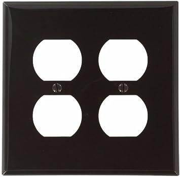Orange Leviton 80716-ORG 2-Gang Duplex Device Receptacle Wallplate