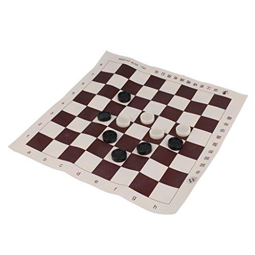 Baosity 国際チェッカー チェッカーボード 白/黒チェスマンの商品画像