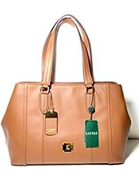 Lauren Ralph Lauren Leather Robertson Shopper Bourbon