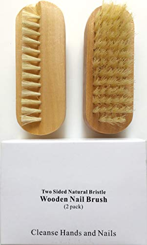 2 pcs/set Two sided Natural Boar Bristle Wooden Manicure, used for sale  Delivered anywhere in USA