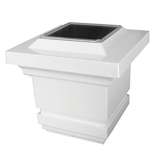 PVC Classy Solar Post Cap White - Size 4x4 by Mr. Light