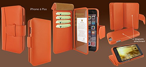 Piel Frama 717 Orange WalletMagnum Leather Case for Apple iPhone 6 Plus / 6S Plus by Piel Frama (Image #5)