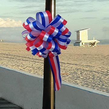 "GiftWrap Etc. Decorative Holiday Ribbon Memorial Day - 4th of July, Veteran's Day, Christmas - 2"" x 50 Yards, Red White Blue"