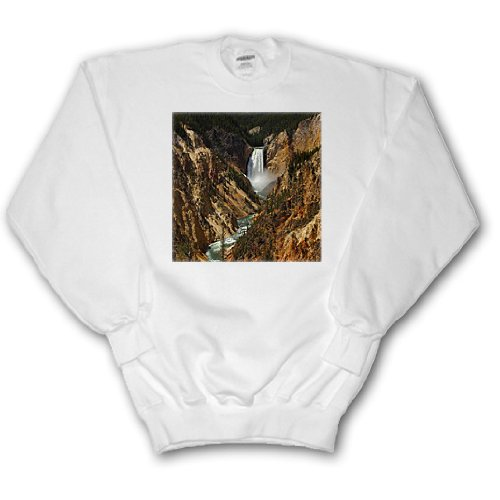 Lower Falls Yellowstone National Park (Sandy Mertens Wyoming State - Lower Falls Yellowstone National Park - Sweatshirts - Adult SweatShirt Medium (ss_17296_2))