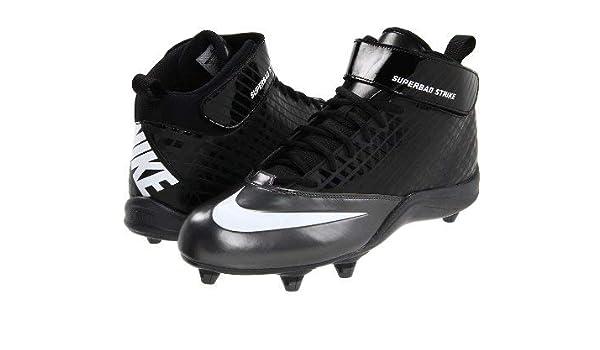 quality design 21417 72b2f Amazon.com   Nike New Super Bad Strike D Molded Football Cleats Men Size  10.5 Black White   Football