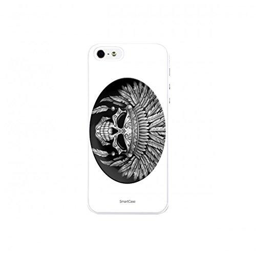 Coque + Verre Trempé pour iPhone 5/5S/SE SmartCase® INDIAN SKULL