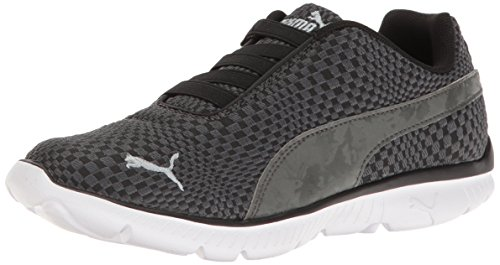 PUMA Women's Fashin Alt Illusion Fashion Sneaker, Dark Shadow Black Silver, 6.5 M US