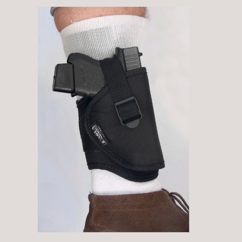 TACON Arms Nylon Ankle Gun Holster - High Quality Handgun Accessory - Available in Black - Fits Most Revolvers / Pistols by TACON Arms