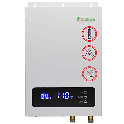 - Sio Green SIO18 Electric Tankless Water Heater - Infrared Tank-Less Instant Hot Water Heater - Cost Effective & Corrosion-Free - No Lime Scale, No Algae, No Bacteria 220v - 240v / 80A / 18kW