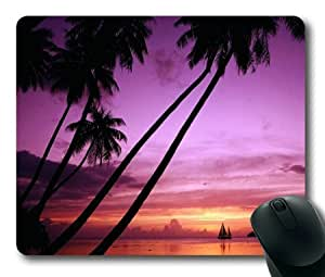 Lilyshouse Beautiful Sunset by the Sea Rectangle Mouse Pad