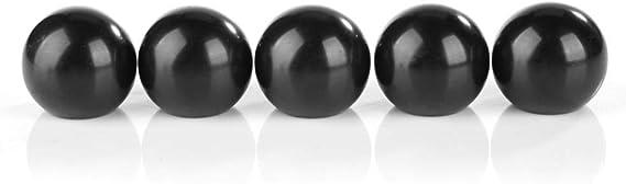 3 x boule bouton m8 ø32mm Noir M Acier Filetage LEVIER BOUTON pommeau boule