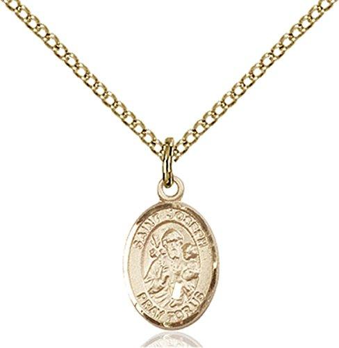 Patron Saints by Bliss 14K Gold Filled Saint Joseph Petite Charm Medal, 1/2 ()