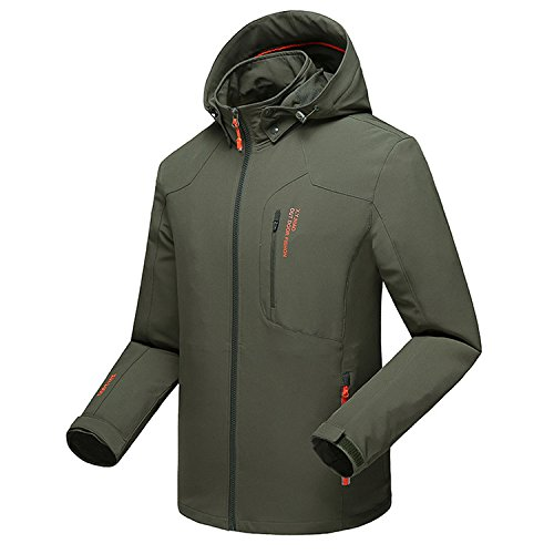 Mountain conqueror mens lightweight jacket coat waterproof for Waterproof fishing jacket