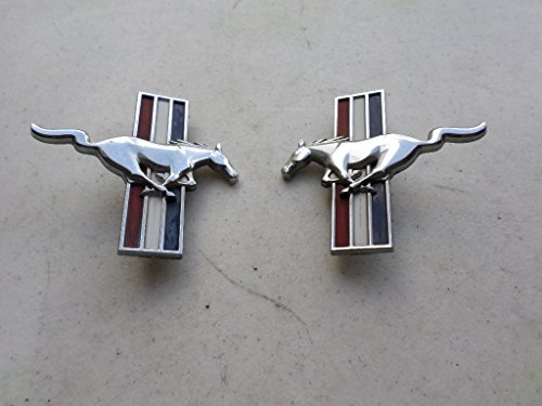 (94-03 Ford Mustang Running Pony Horse Side Door Fender Emblem Logo Badge Set of 2 Decals)