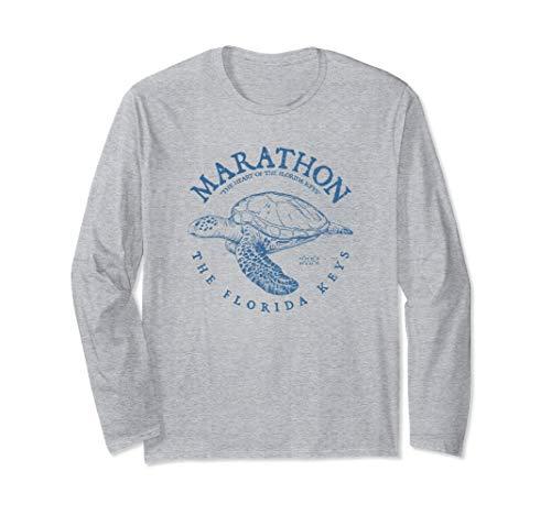 Marathon Turtle Florida Keys Scuba Fishing Diving Tee Long Sleeve T-Shirt