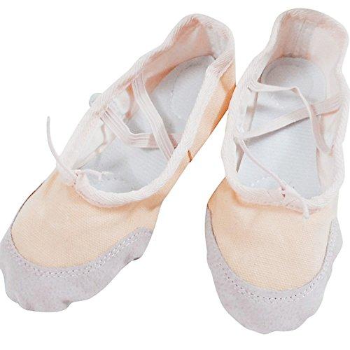 Vesniba Voksen Lerret Ballett Dansesko Pers Pointe Gymnastikk (7,5, Svart)  Beige ...