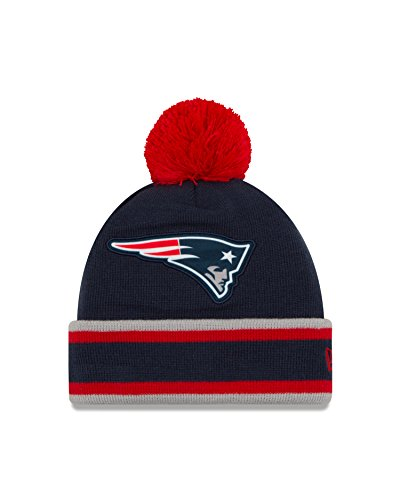 NFL New England Patriots Team Relation Knit Beanie, One Size, Blue