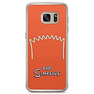 Loud Universe Hairs of Bart Simpson Samsung S7 Edge Case The Simpsons Samsung S7 Edge Cover with Transparent Edges