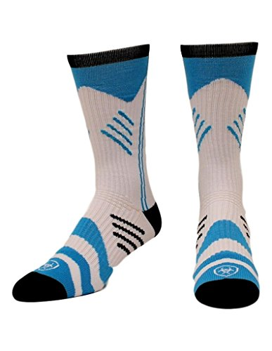 Ariat Men's Performance Mid Socks, Blue, White, L (Ariat Arch)