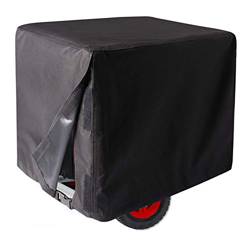 Ihomepark Outdoor Generator Covers, 38'' x 28'' x 30'' Waterproof Universal Storage Cover for Generator - Black