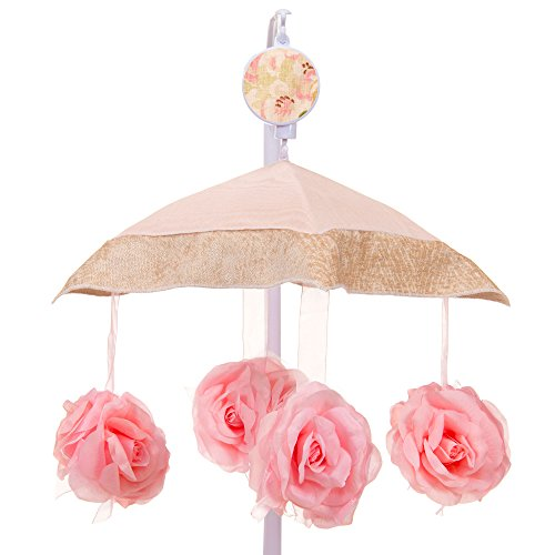 Charlotte Pink Floral Musical Mobile by Glenna Jean