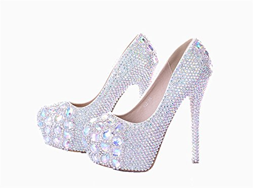 Unicrystal , Damen Pumps Multicolor of Heel Height: 14 cm (5.51 inches)