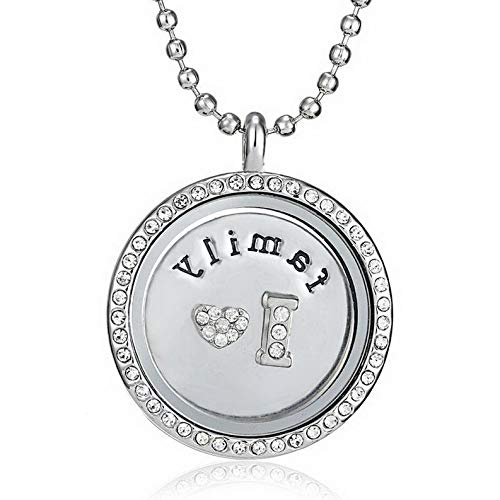 (Florance jones Wholesale Living Memory Floating Locket Charms Pendant Necklace Chain Jewelry | Model BRCLT - 45049 | Family)